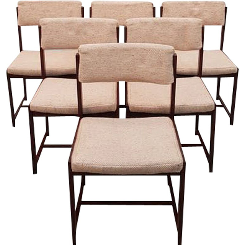 Set of 6 vintage dining chairs by Pieter Debruyne For V Form 1960s