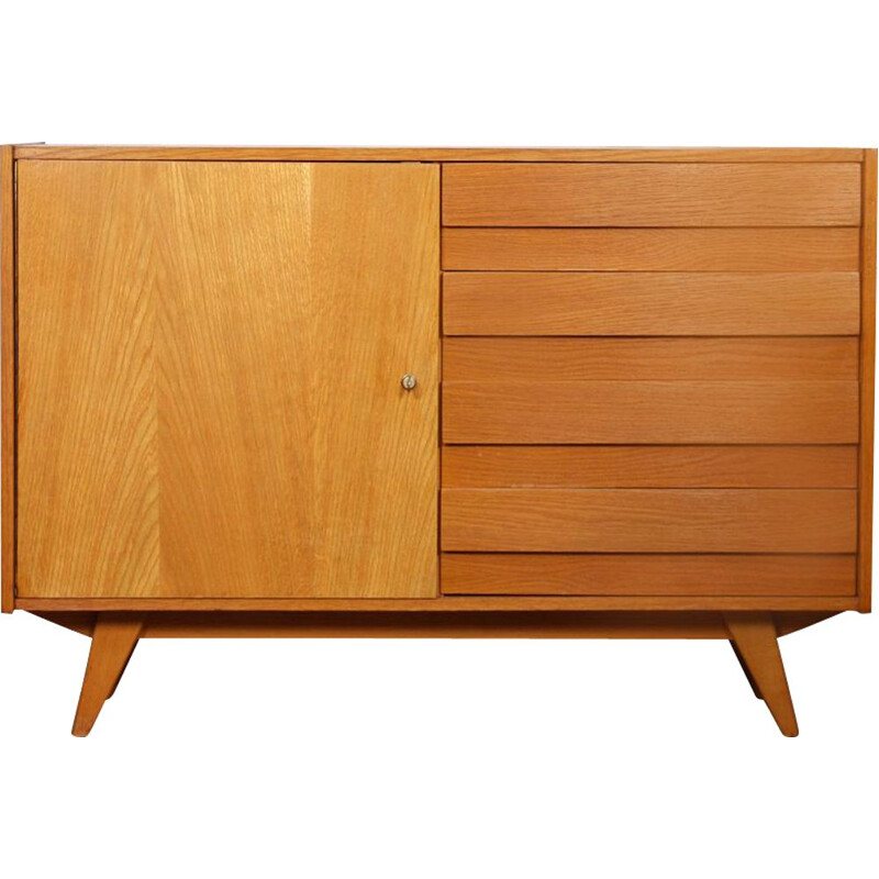Vintage oak highboard by Jiri Jiroutek, model U-458, 1960