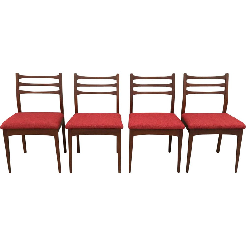 Set of 4 vintage G plan chairs