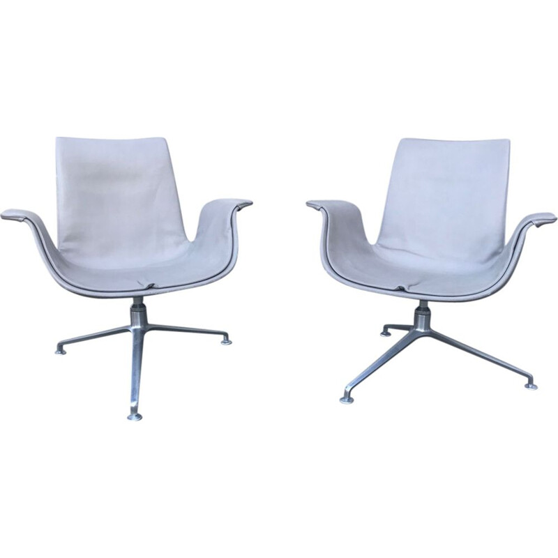 Pair of vintage FK6727 Tulip Lounge chairs by Preben Fabricius & Jørgen Kastholm for Walter Knoll 1990s