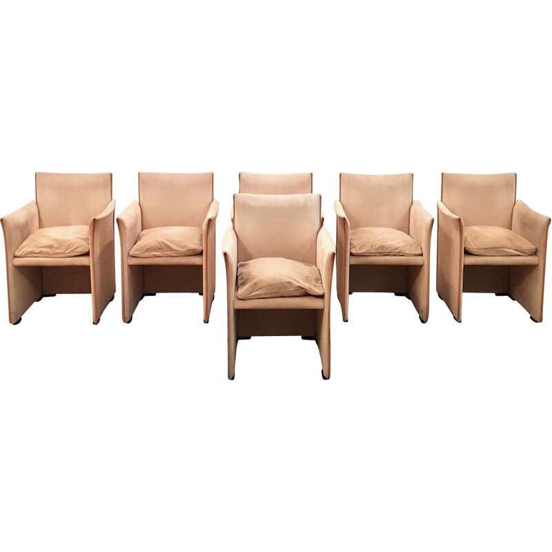 Set of 6 vintage armchairs 401 break - Cassina Mario Bellini 1970
