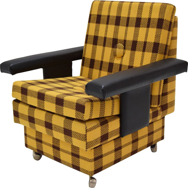 Vintage armchair with wheels 1970