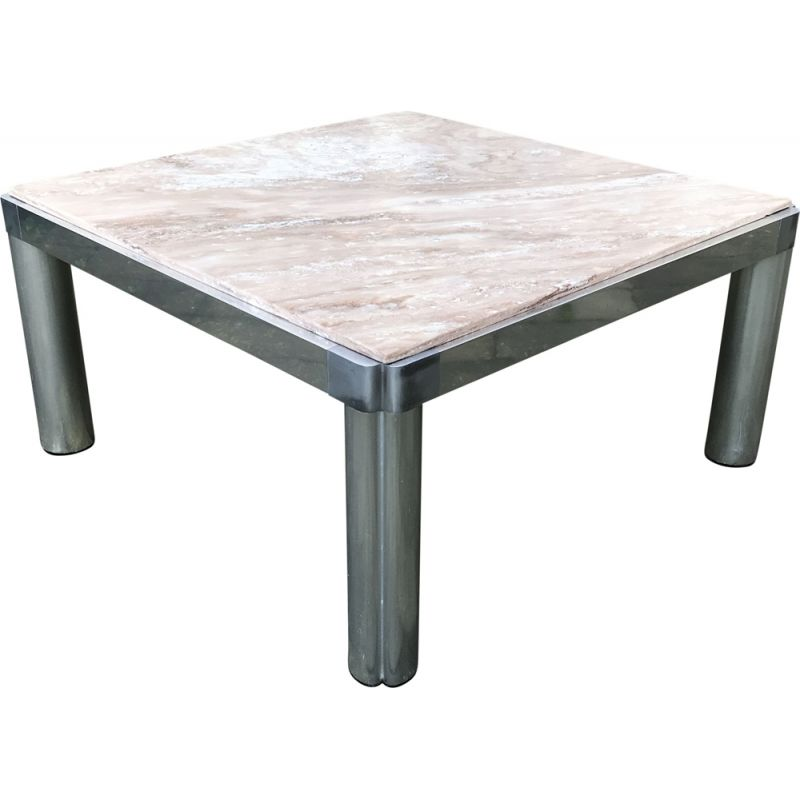 Vintage Model 100 marble coffee table by Kho Liang Ie for Artifort 1970s