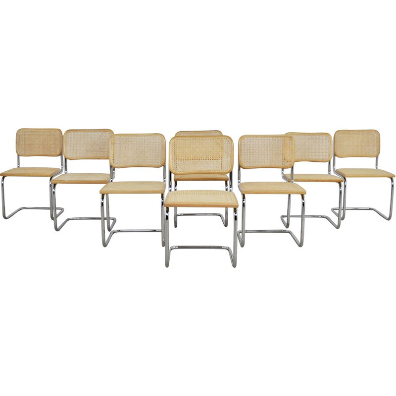 Set of 8 Vintage Dinning Chairs B32 By Marcel Breuer
