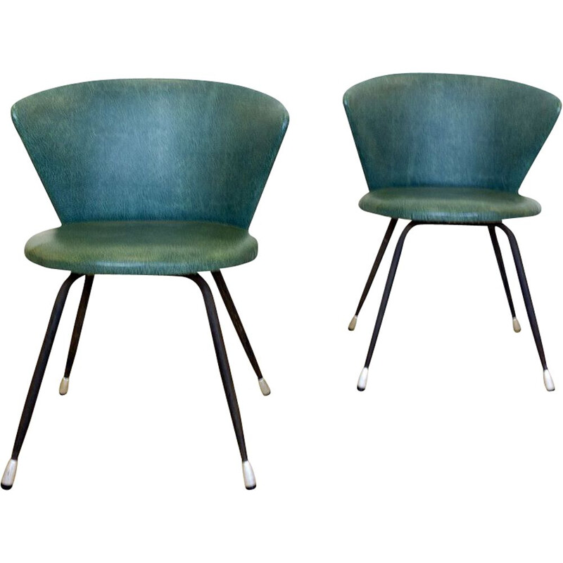 Pair of vintage Club Chairs Spain 1960