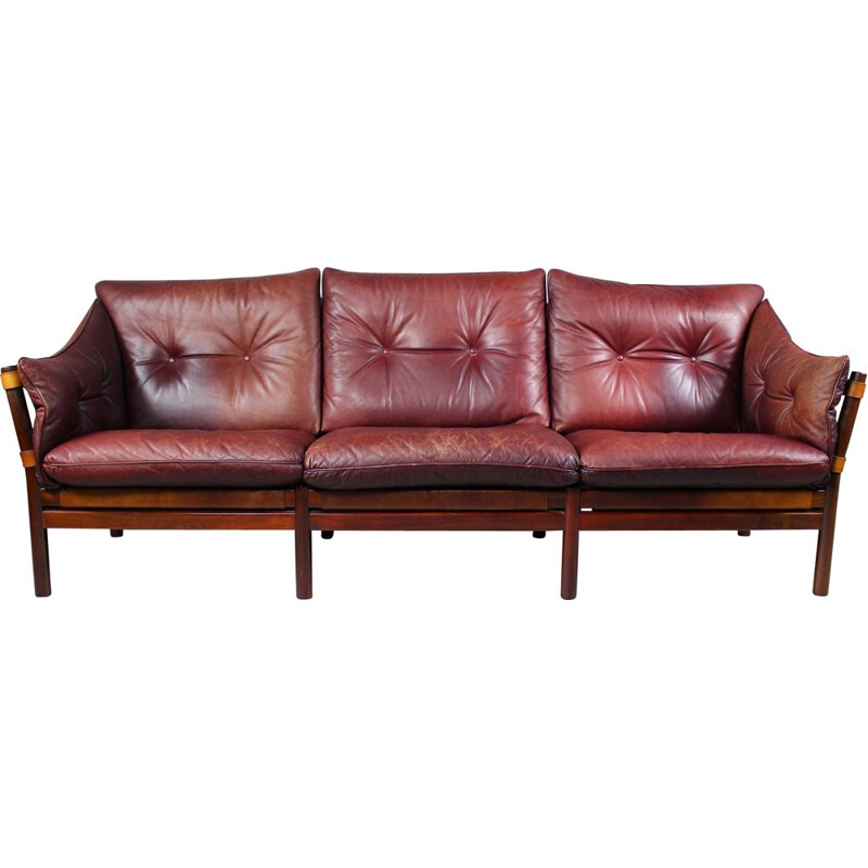 Vintage Leather Sofa Ilona by Arne Norell, Aneby Møbler 1960s