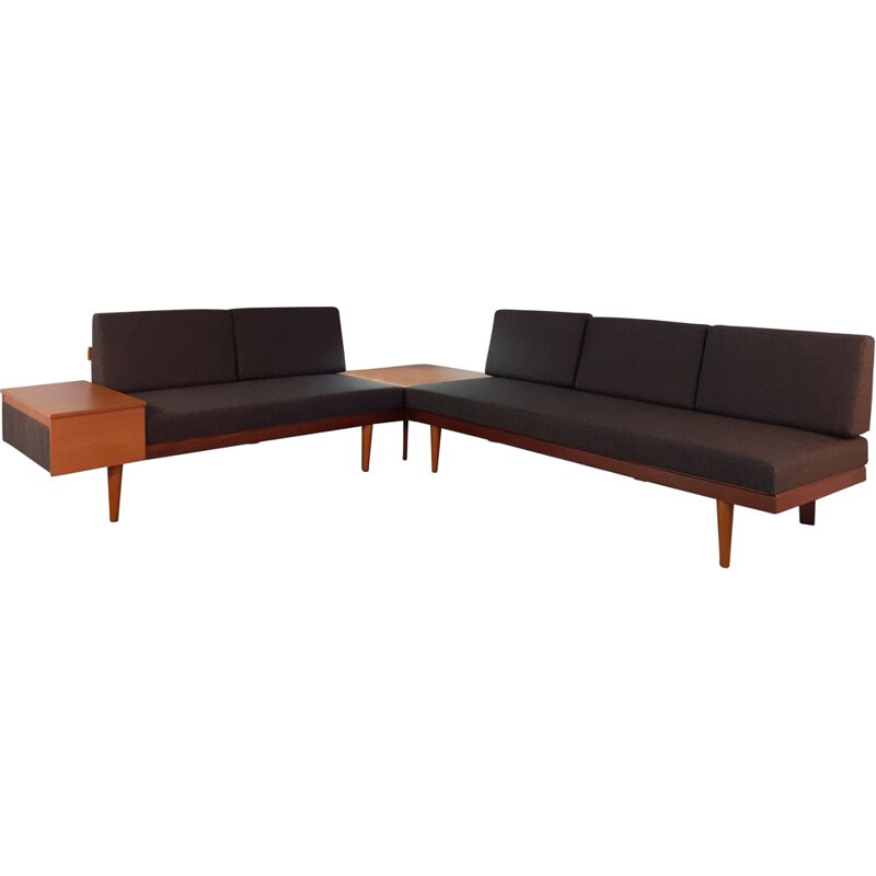 Vintage Norwegian 2 daybeds lounge set by Ekornes Svane, 1960