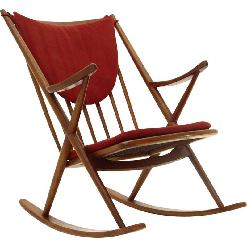 Vintage Rocking chair by Frank Reenskaug for Bramin, 1960s