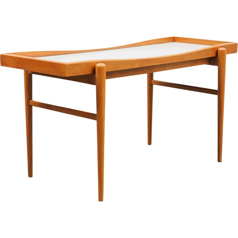 Vintage coffee table, cherrywood 1950s