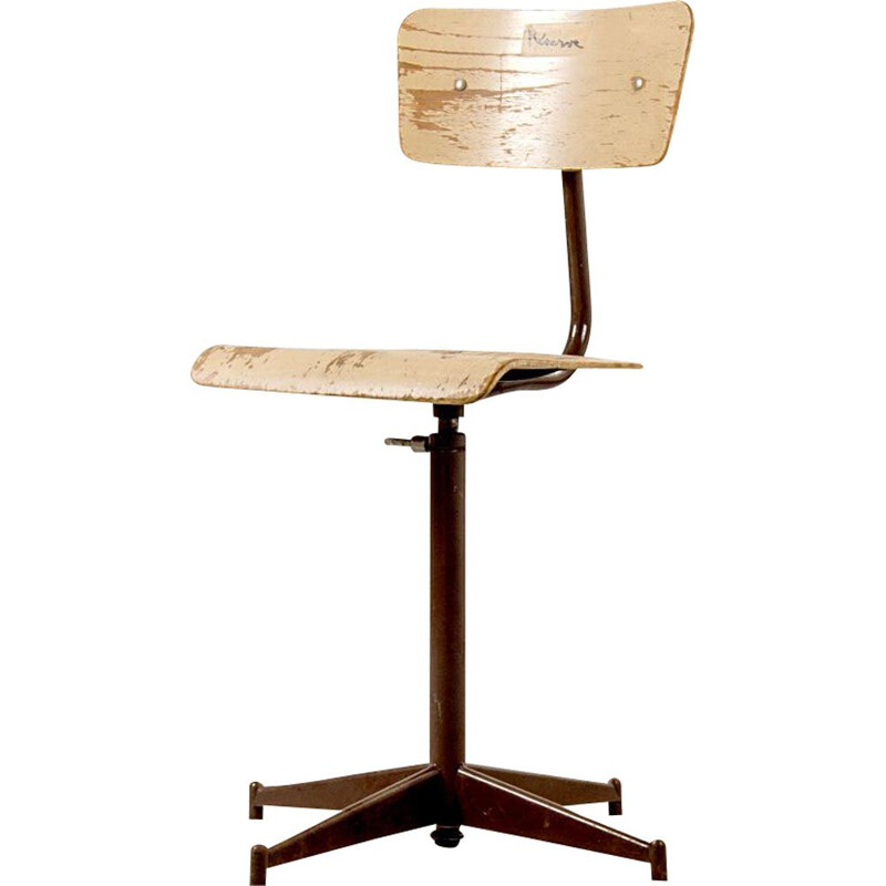 Mid-Century Industrial French Stool, 1950s