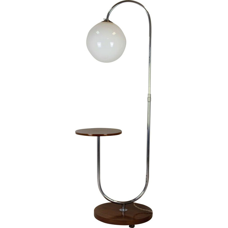 Vintage Art Deco Floor Lamp by Jindrich Halabala, 1940s
