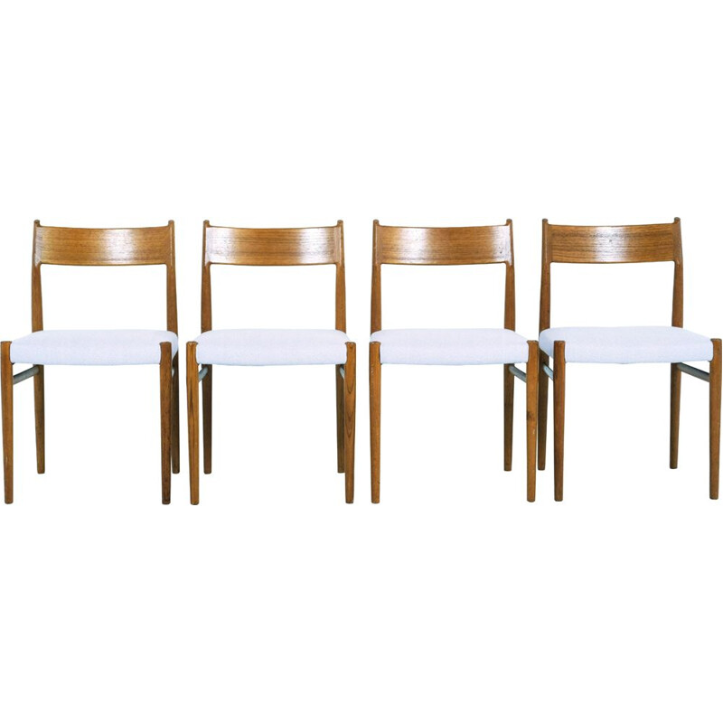 Set of 4 vintage teak chairs by Arne Vodder Edition Sibast 1960