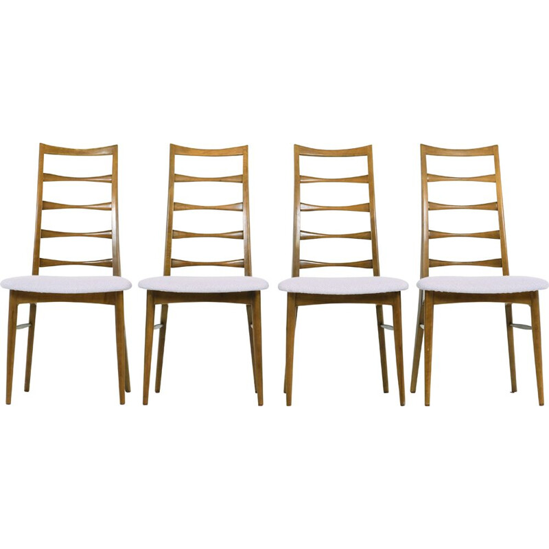 Set of 4 vintage chairs Liz by Niels Koefoed 1960