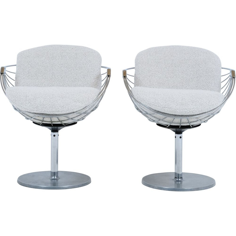 Pair of Atomic vintage chairs by Rudi Verelst