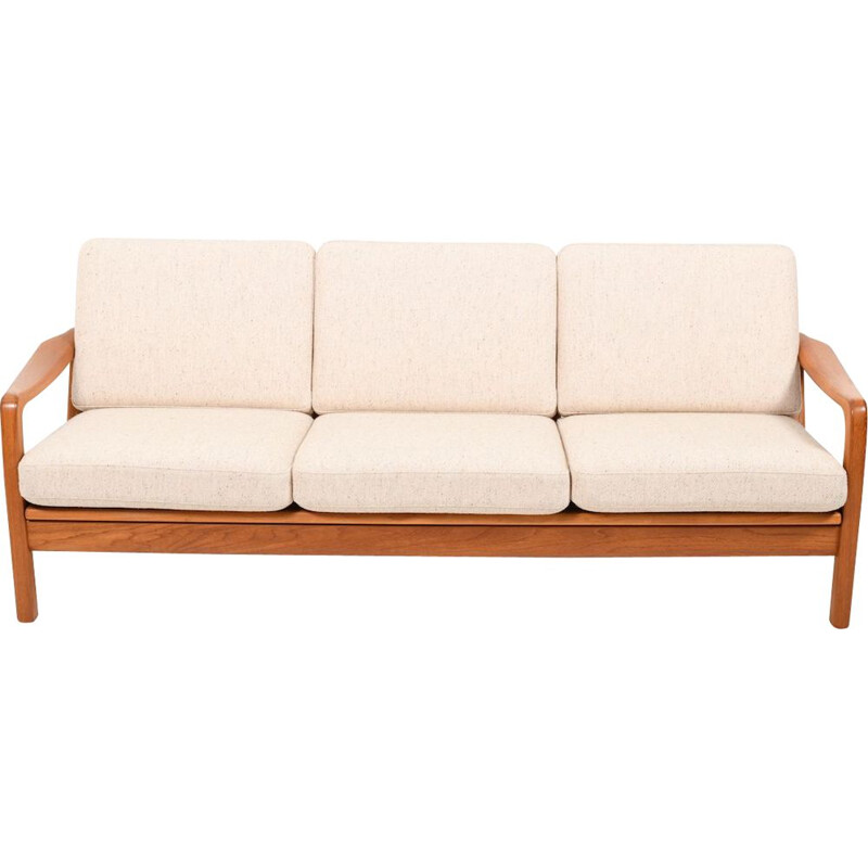 Vintage Teak 3-Seater Loungesofa  Daybed by Jens-Juul Christensen Danish 1970
