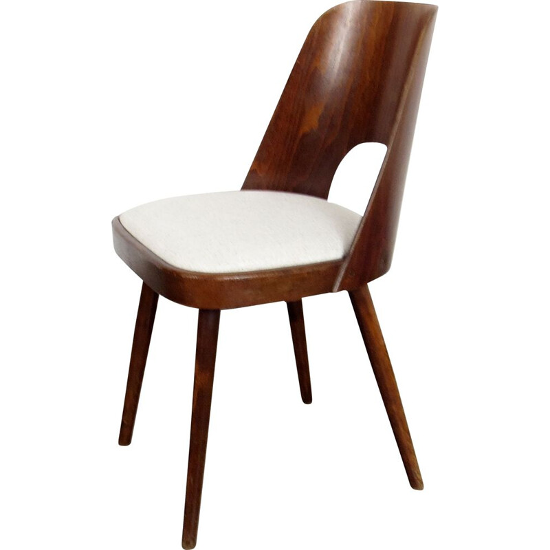 Vintage Dining chair by Oswald Haertl Czechoslovakia 1960s