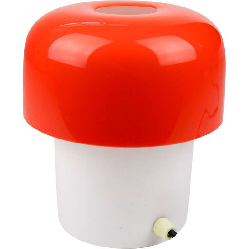 Mid-Century space age red table lamp from Luigi Massoni for Guzzini, 1970s