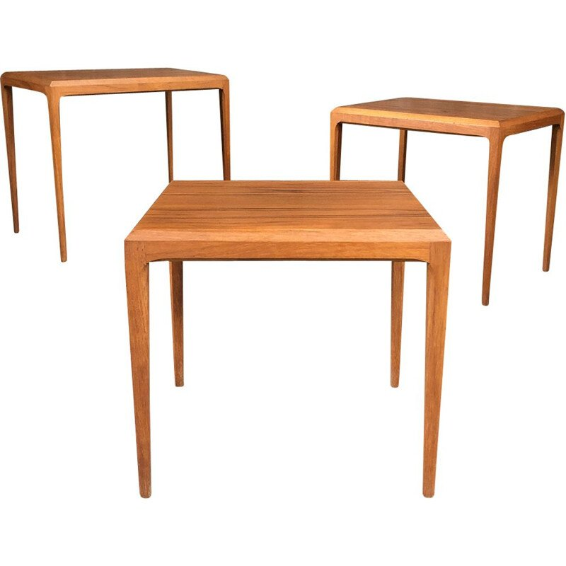 Vintage nesting tables by Johannes Andersen, 1960