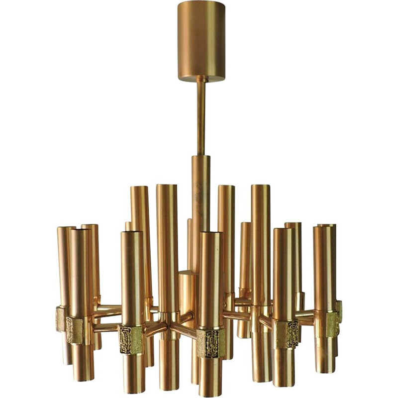 Vintage chandelier Angelo Brotto for Espéria Italy 1960