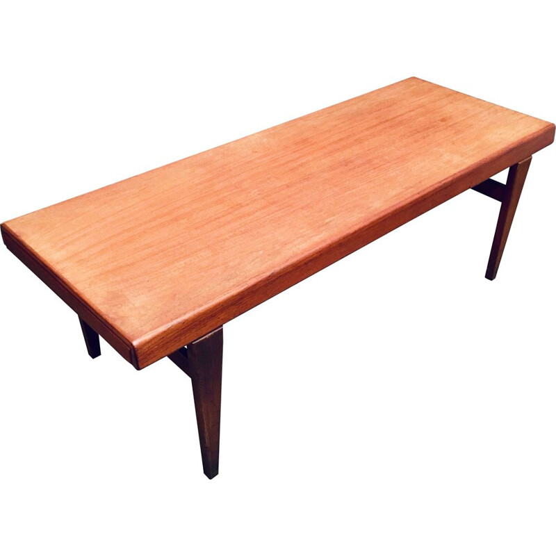 Vintage teak coffee table Johannes Andersen scandinavian 1950