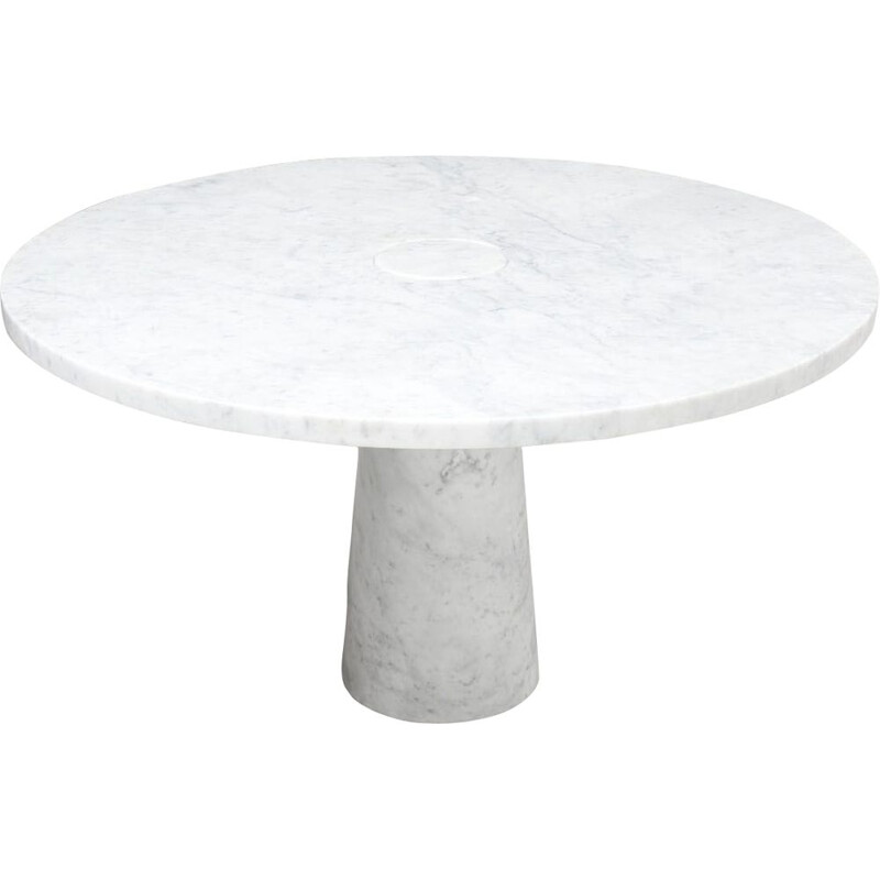 Vintage White 'Eros' Dining Table by Angelo Mangiarotti for Skipper, Italy 1970s