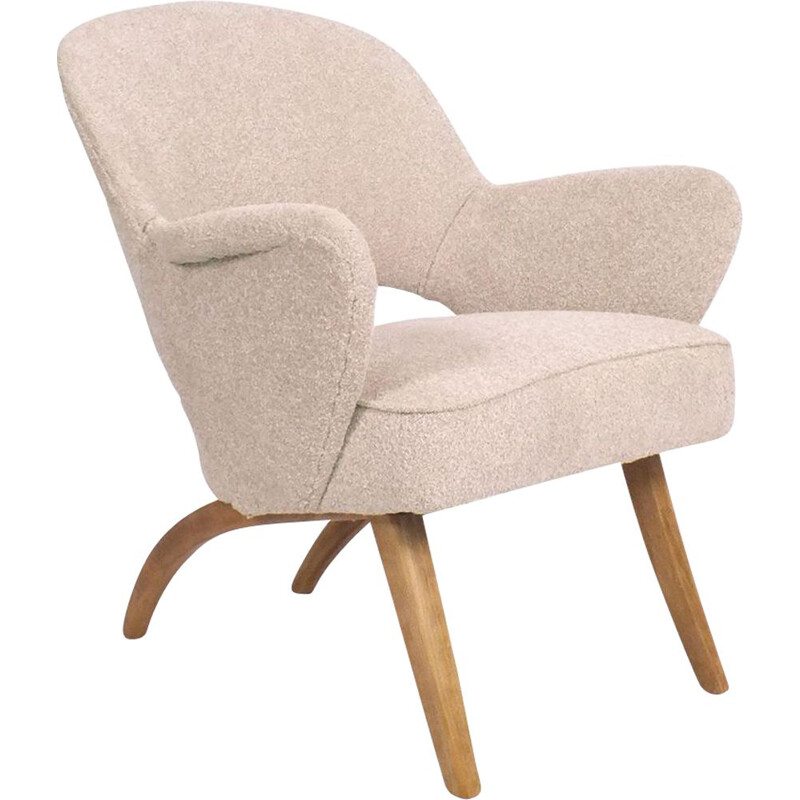 Vintage armchair from Artifort with pink bouclé 1950s