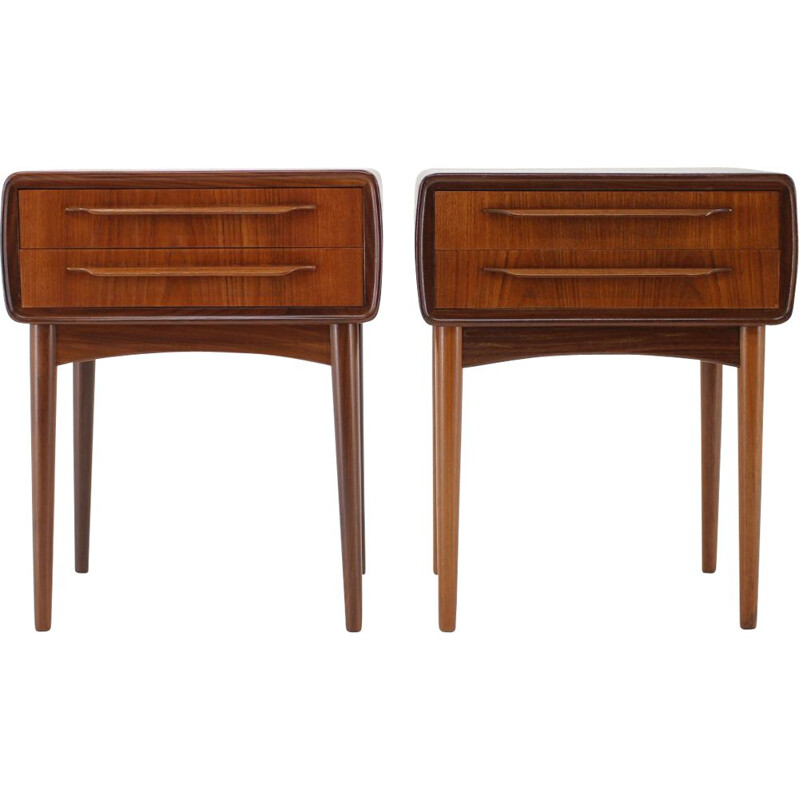 Pair of vintage Bedside Tables Johannes Andersen 1960s