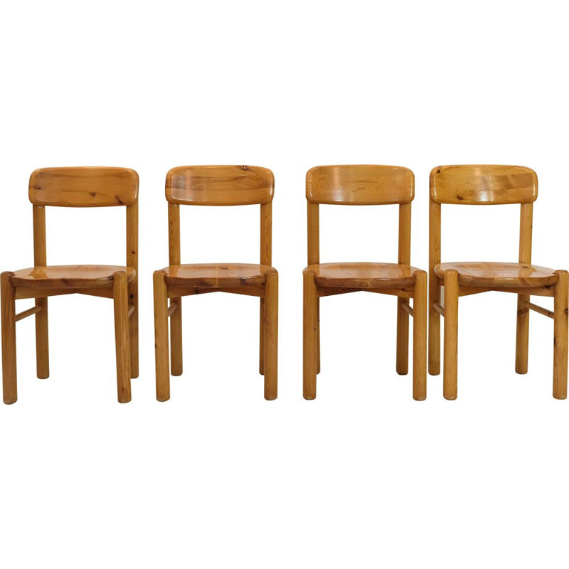 Set of 4 vintage chairs by Rainer Daumiller, 1970s