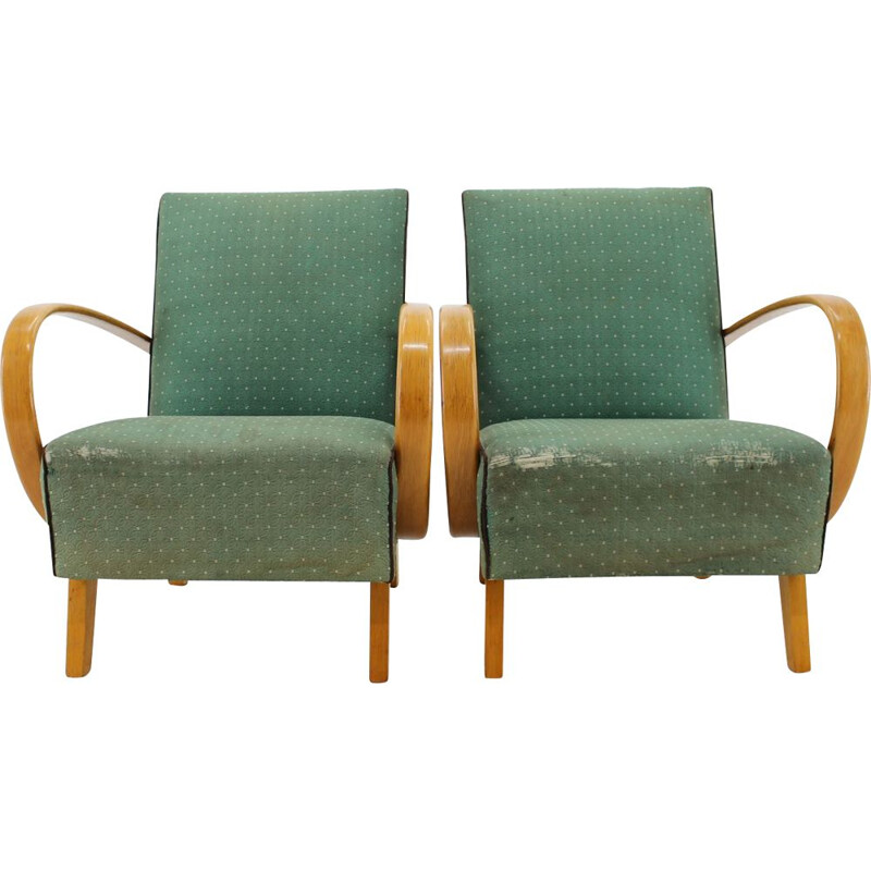 Pair of vintage Armchairs by Jindrich  Halabala Czechoslovakia 1950s