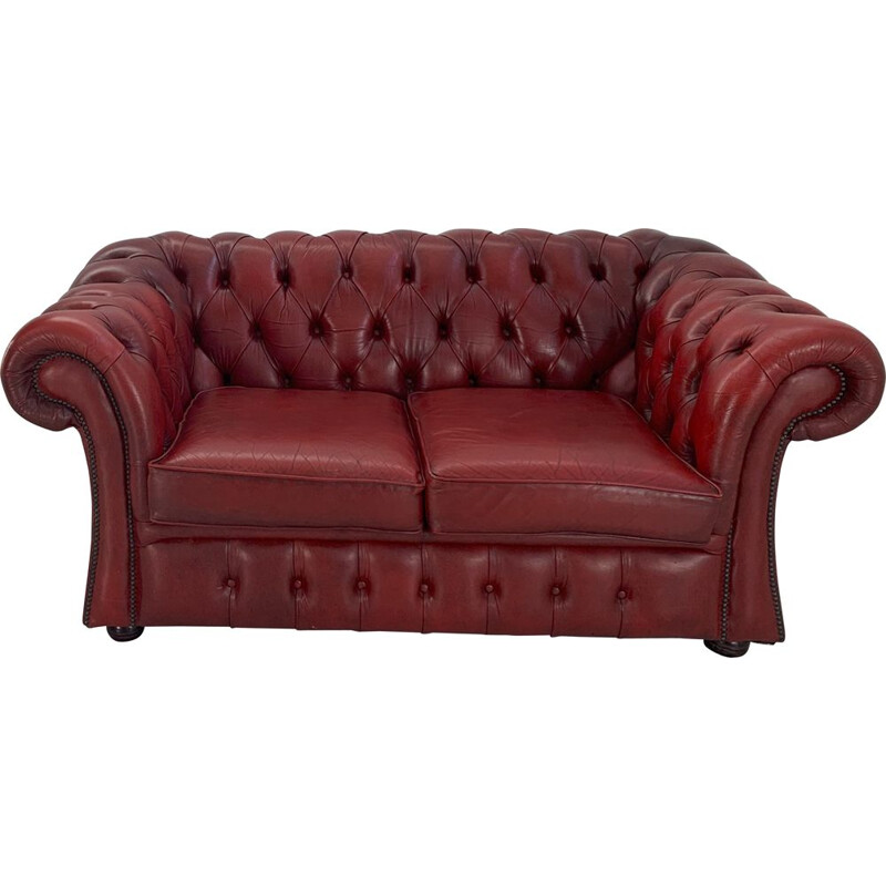 Vintage Chesterfield two seater sofa