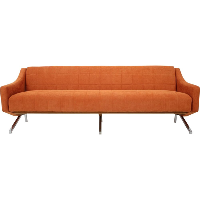Vintage 3-seather sofa, Italian 1970s