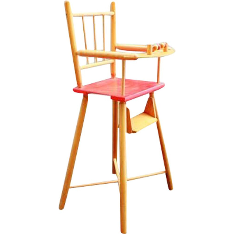 Vintage high chair for dolls 1970