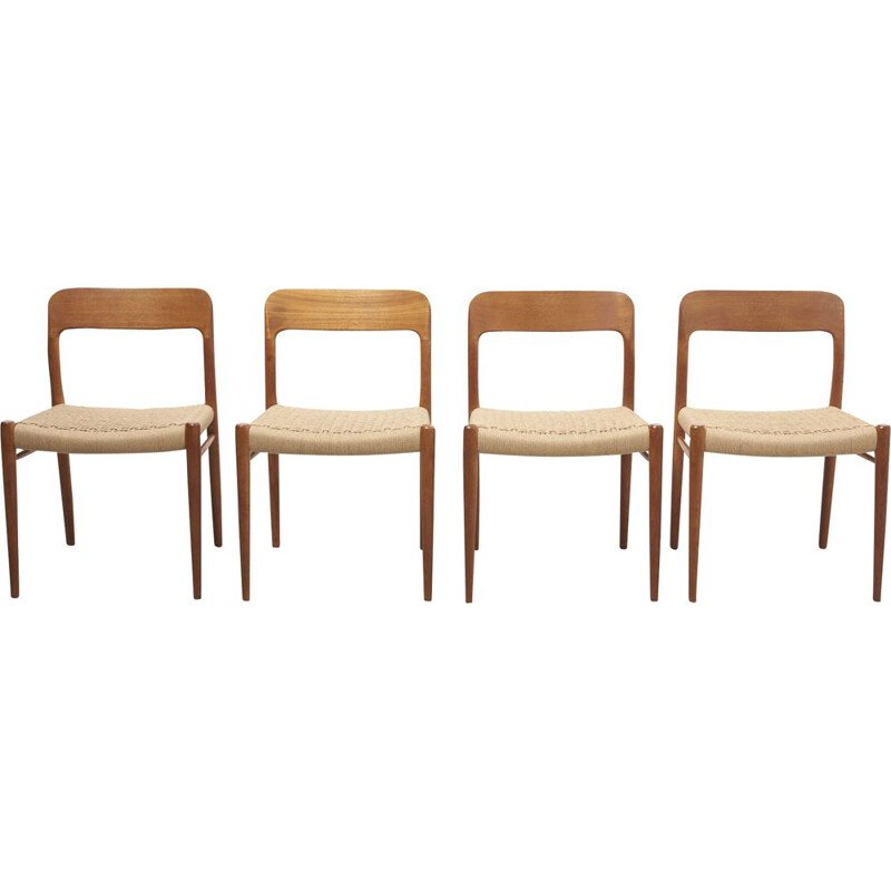 Set of 4 vintage Dining Chairs by Niels O. Møller for J.L. Møllers Møbelfabrik, Denmark 1950s