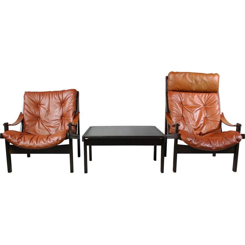 Pair of vintage Hunter Chairs by Torbjørn Afdal for Bruksbo, 1960s
