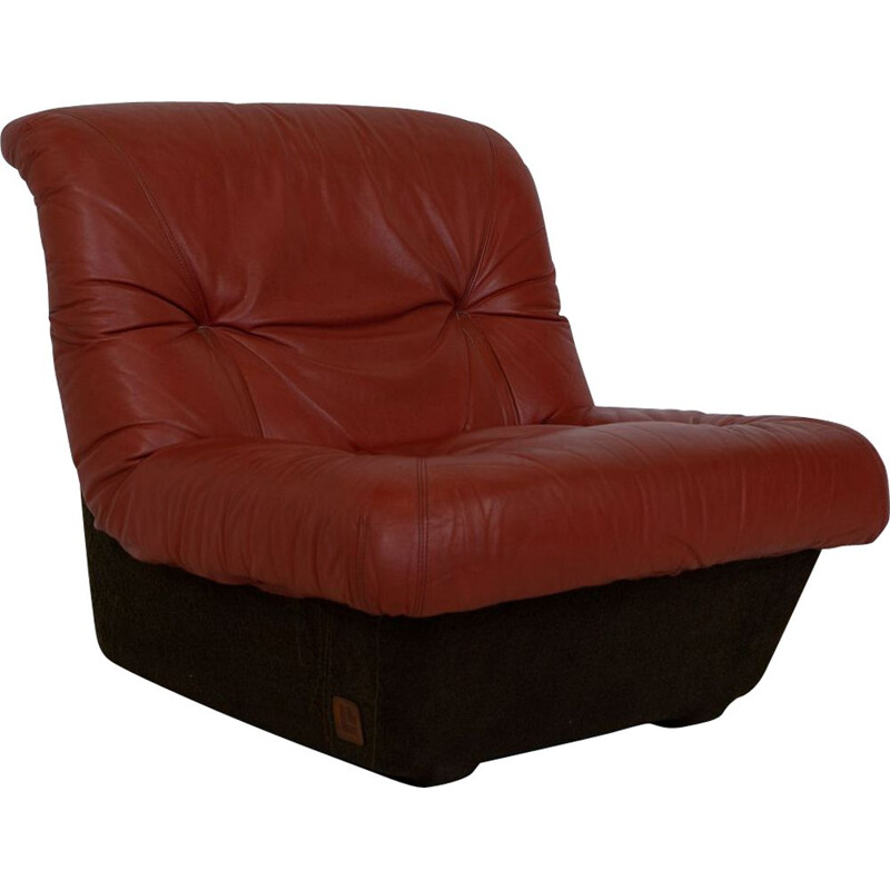 Vintage Lev&Lev red leather seating group