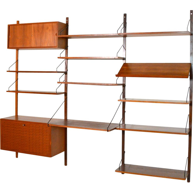 Vintage bookcase Royal System modular system by Poul Cadovius Denmark 1960