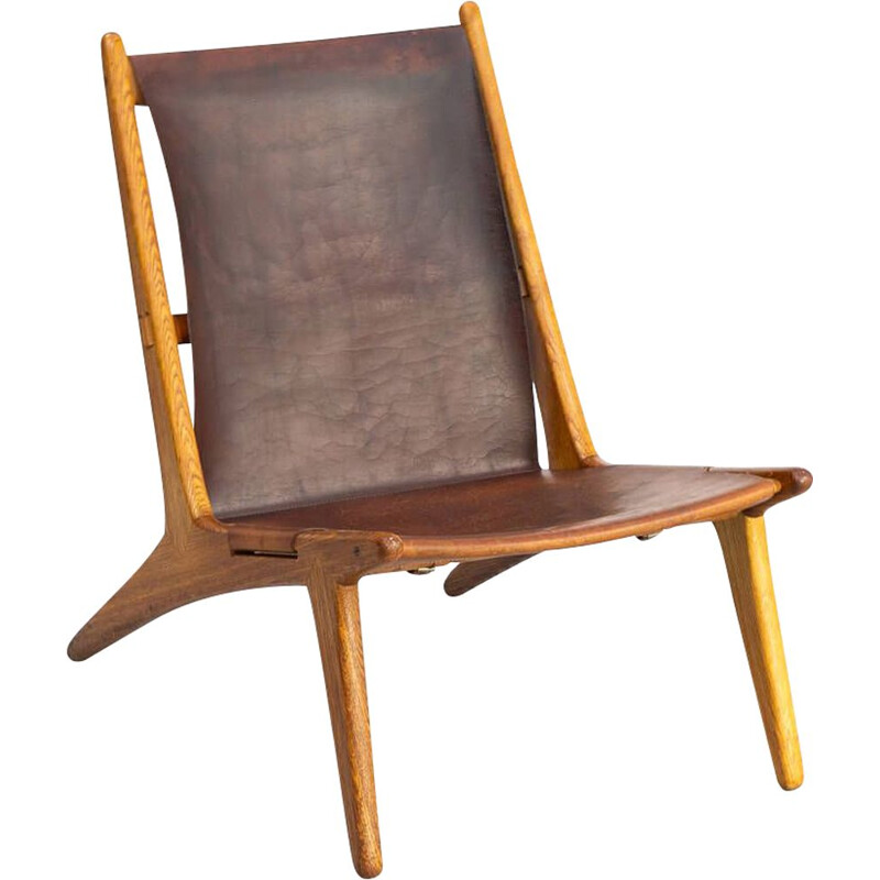 Vintage model 204 Hunting Chair by for Luxus Uno & Östen Kristiansson 1950s