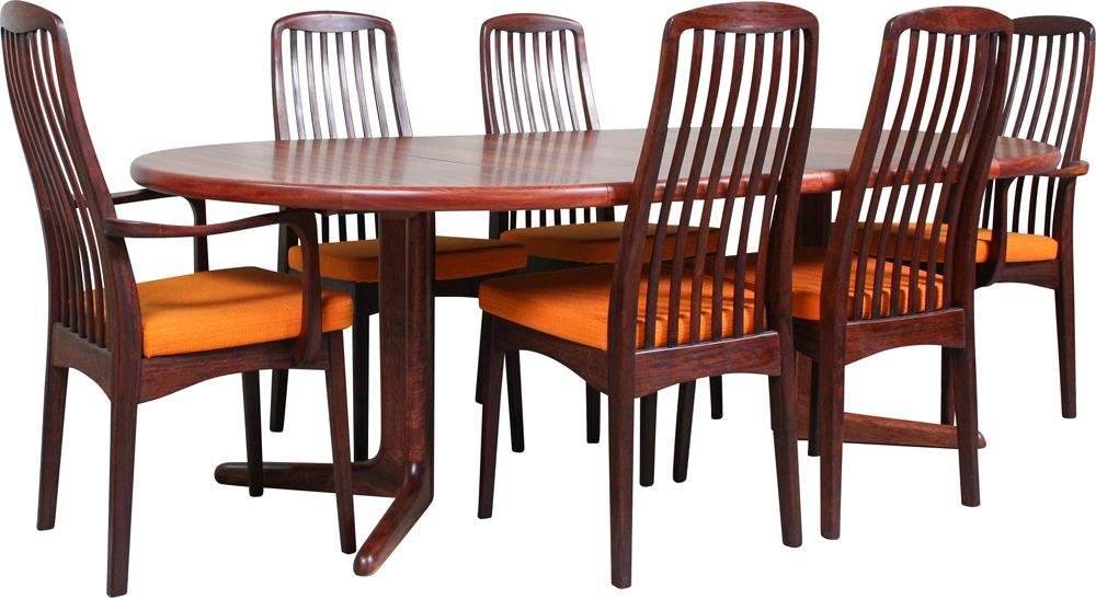 Set Of 7 Vintage Dining Table Chairs Set From Svegards Rosewood 1960s Design Market