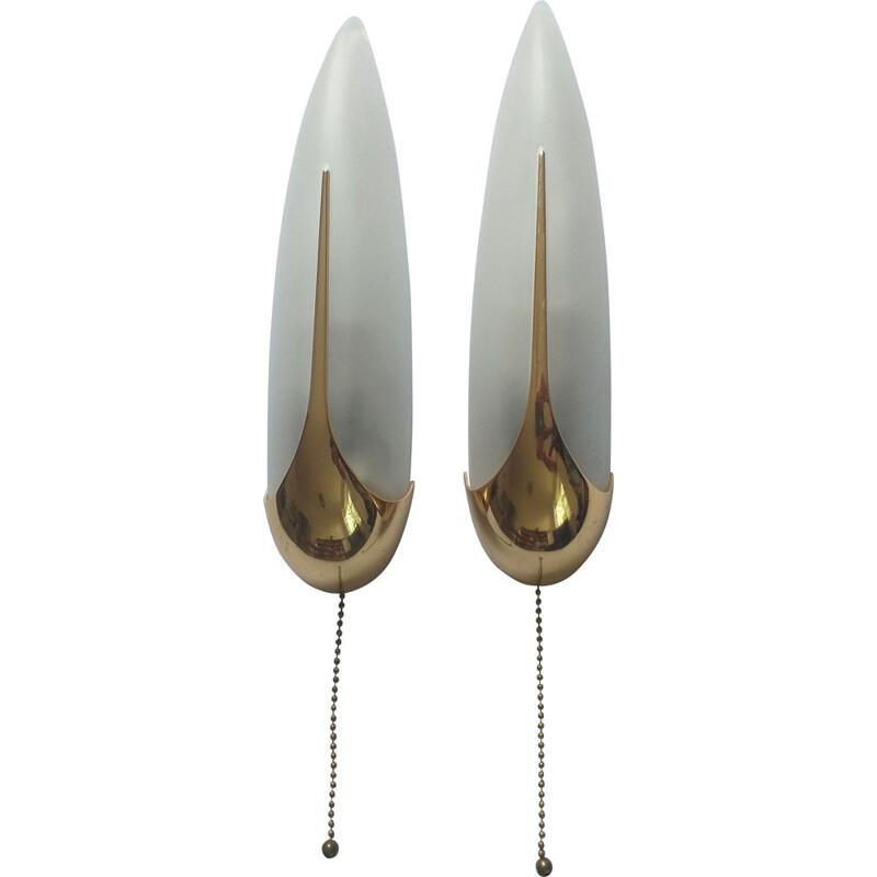 Pair of vintage wall lights, Italy 1970