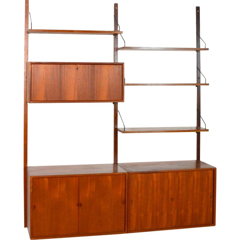 Vintage modular library Royal System by Poul Cadovius, Denmark 1960