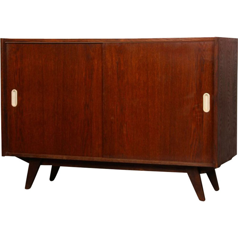 Vintage oak highboard, model U-452 by Jiri Jiroutek, 1960