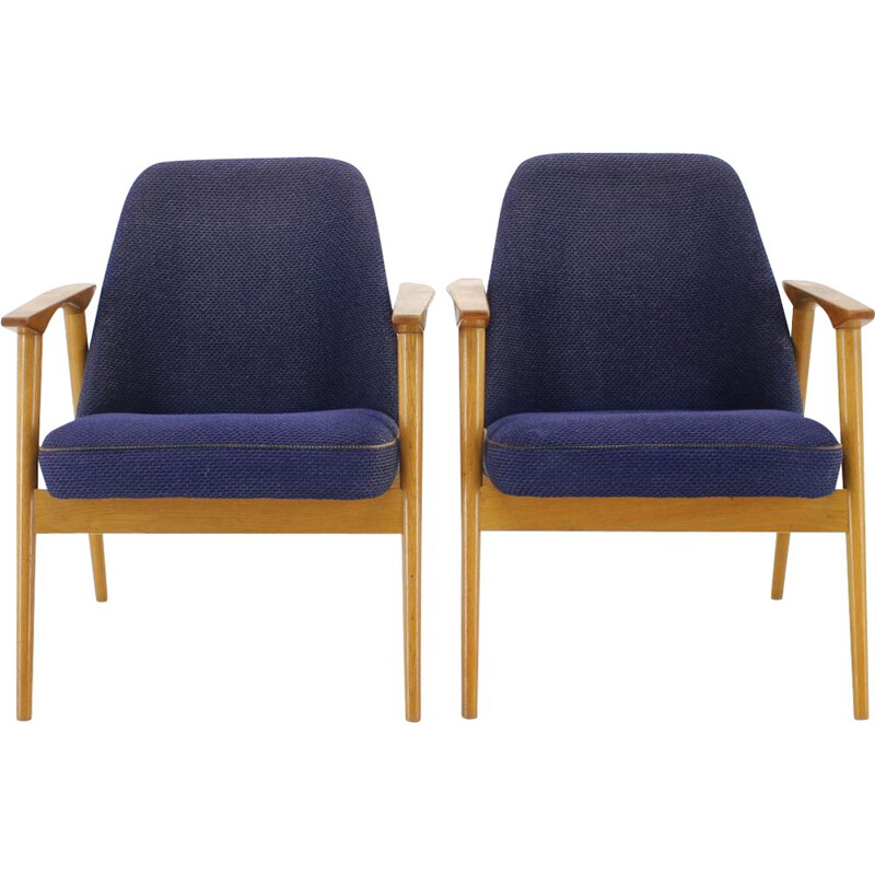 Pair of vintage armchairs Miroslav Navratil, Czechoslovakia 1960