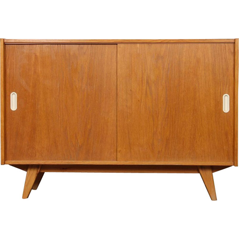 Vintage oak highboard, model U-452, by Jiri Jiroutek for Interier Praha, 1960