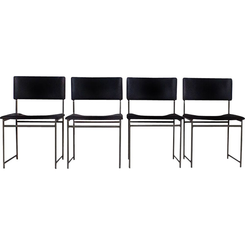 4 vintage SM08 chairs by Cees Braakman for the UMS Pastoe, Netherlands