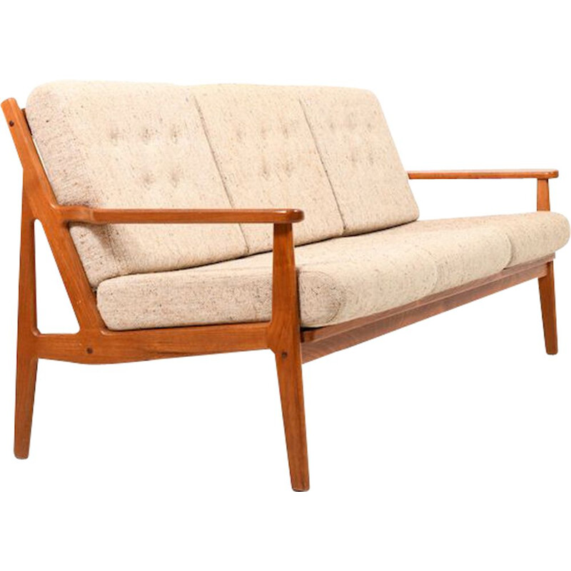 Vintage 3-seater teak sofa, Danish 1960