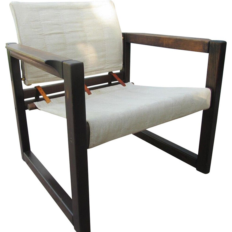 """Vintage safari armchair """"Diana"""" by Karin Mobring for Ikea, 1972"""