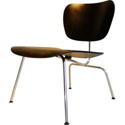 "Herman Miller ""LCM"" chair in wood and metal, EAMES - 1950s"