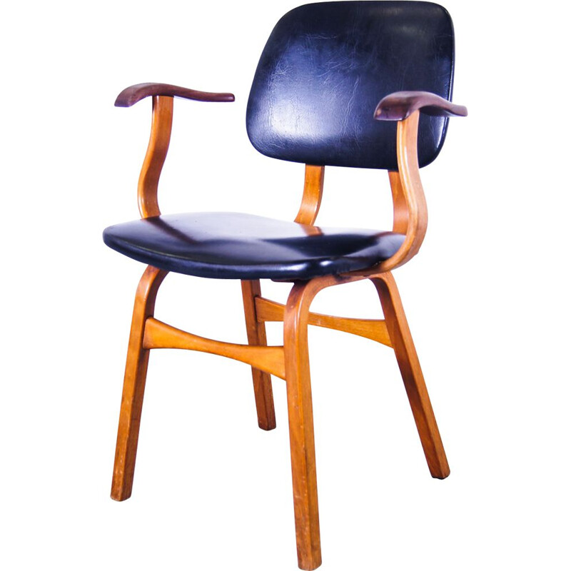 Vintage organic bentwood chair