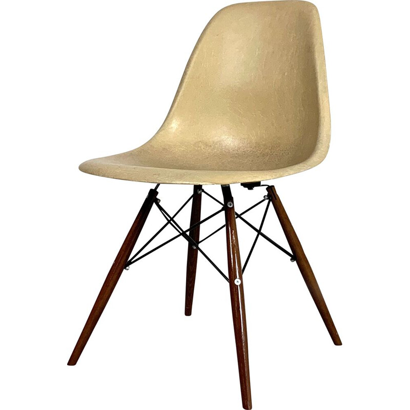 Vintage Cream DSW Dining Chair by Charles & Ray Eames for Herman Miller, 1980s