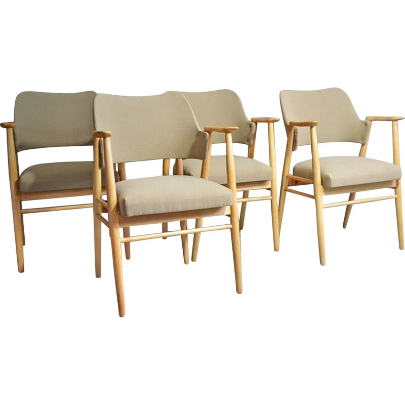 Set of 4 vintage Cees Braakman dining chairs for Pastoe 1960
